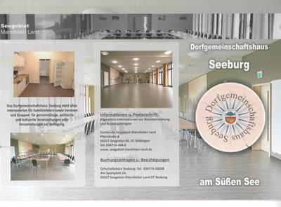 Dorfgemeinschaftshaus Seeburg_Flyer Seite 1